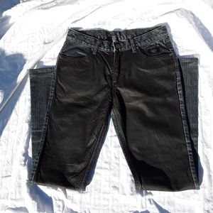 Leather Front Harley Davidson Jeans